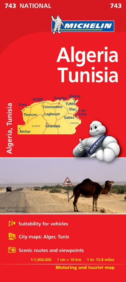 Algeria & Tunisia - Michelin National Map 743